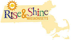 Rise and Shine Massachusetts logo